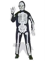 Adult Molded Bones Skeleton Costume