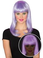 Womens Purple Glow Babe Wig
