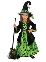 Girls Green Witch Costume