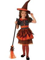 Girls Polka Dot Witch Costume