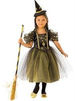 Girls Golden Star Witch Costume