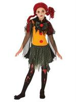 Girls Zombie Clown Costume