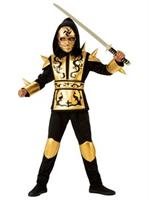 Boys Gold Ninja Costume