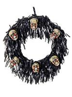 6 Bloody Mini Skull Wreath