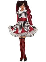 Womens Miss Mischief Female Clown Costume