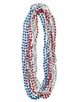 Red, White, & Blue Bead Necklace