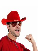 Deluxe Red Cowboy Hat