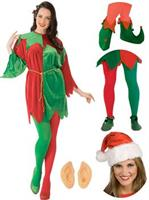 Elf Costume Adult Christmas Tunic Complete Outfit