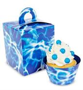 Blue Lightning Cupcake Boxes