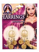 Fortune Teller - Coin Earrings - Gold
