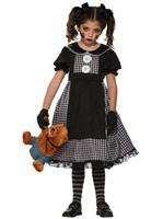 Child Dark Rag Doll Costume