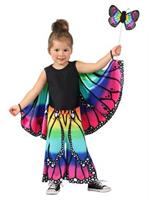 Girls Child Rainbow Butterfly Pants Costume