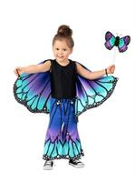 Girls Child Blue Butterfly Pants Costume