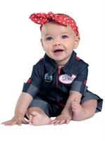 Girls Newborn Rosie The Riveter Costume