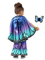 Girls Child Blue Butterfly Cape Costume
