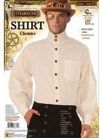 Steampunk Shirt - Men'S - Beig Costume