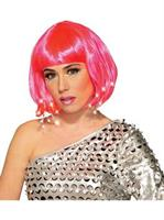 Adult Pink Light Up Wig(OS)