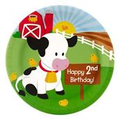 Barnyard 2nd Birthday Dinner Plates