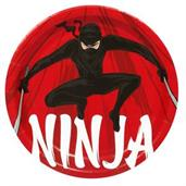 Ninja Warrior Party Dinner Plates