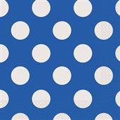 Blue and White Dots Lunch Napkins