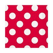 Red and White Dots Beverage Napkins
