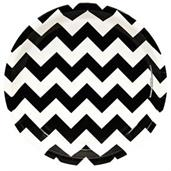 Chevron Black Dinner Plates