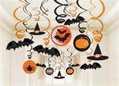 Halloween Value Pack Ceiling Swirl Foil Decorations
