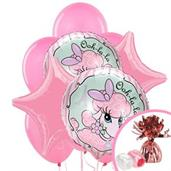 Pink Poodle in Paris Balloon Bouquet