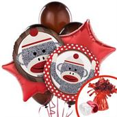 Sock Monkey Colorful Party Balloons, Numbered Balloons and Balloon Bouquets