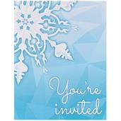 Snowflake Winter Wonderland Invitations (8)