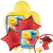 Sesame Street Colorful Party Balloons, Numbered Balloons and Balloon Bouquets