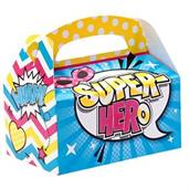 Superhero Girl Empty Favor Boxes