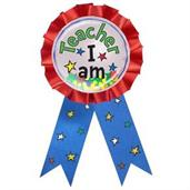 Dr. Seuss Teacher I Am Award Badge