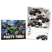 Monster Jam Grave Digger Party Invitations