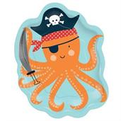 Ahoy Birthday Octopus Shaped Plates (8)