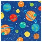 Blast Off Birthday Beverage Napkins (16)