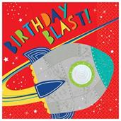 Blast Off Birthday Lunch Napkins (16)