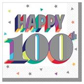 Here's to Your 100th Birthday Beverage Napkins (16