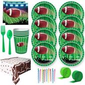 Football Party Deluxe Tableware Kit (Serves 8)