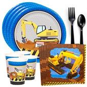 Construction Party Standard Tableware Kit (Serves