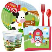 Barnyard 2nd Birthday Standard Tableware Kit (Serv