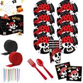 Pirate Birthday Deluxe Tableware Kit (Serves 8)