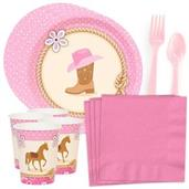 Western Cowgirl Party Standard Tableware Kit (Serv