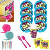 Superhero Girl Deluxe Tableware Kit (Serves 8)