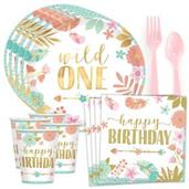 Boho 1st Birthday Girl Standard Tableware Kit (Ser