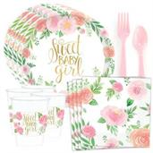 Floral Baby Shower Standard Tableware Kit (Serves