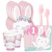 1st Birthday Bunny Standard Tableware Kit (Serves
