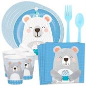 Birthday Bear Standard Tableware Kit (Serves 8)