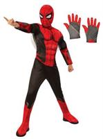 Spiderman Kids Deluxe Costume Kit - Red & Black L