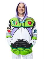 Toy Story Buzz Lightyear Mens Hoodie Costume (One